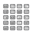 browsericons vector image