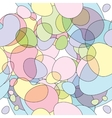 Seamless round bubbles pattern vector image vector image