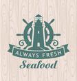 seafood shop vector image vector image