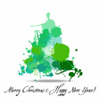 Tree blots christmas decoration vector image vector image