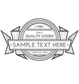 outline retro banner template vector image