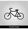 Bicycle icon on grey background vector image