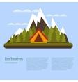 cartoon eco tourism camping concept vector image