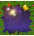 Christmas background with of glowing rays fir vector image