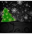 Christmas tree horizontal postcard vector image