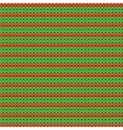 Detailed knitted striped red-and-green pattern vector image