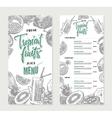 Fresh Restaurant Menu Template vector image