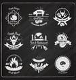 grill restaurant vintage emblems vector image