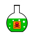 Laboratory glass with poison vector image