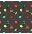 Pattern for Black Friday with bag and percent vector image
