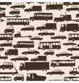 Seamless abstract cartoon background with many car vector image