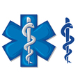 medical symbol caduceus snake vector image