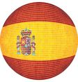 Ball with Spain flag vector image
