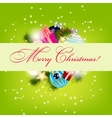 Elegant Christmas card background vector image vector image