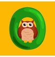 letter O with animal owl for kids abc education in vector image