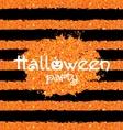 Shine Orange Wallpaper for Happy Halloween Party vector image