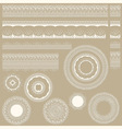lacy vintage design elements vector image vector image