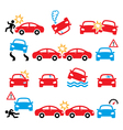 Road accident car crash personal injury i vector image vector image