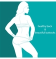 healthy back and beautiful buttocks vector image vector image