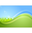 Bright summer wavy background vector image
