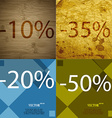 35 20 50 icon Set of percent discount on abstract vector image