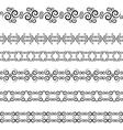 Swirl border vector image