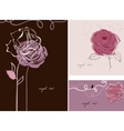 Roses cards collection vector image
