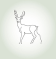 Deer in a minimal line style vector image vector image