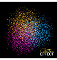 Abstract Colorful Burst Effect of Colors Paint vector image