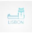 Belem Tower - the symbol of Lisbon Portugal vector image