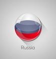 European flags set - Russia vector image