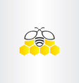 honeycomb and bee symbol vector image
