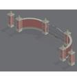 isometric Gate portal vector image