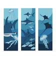 ocean banner vector image