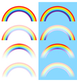rainbow arc set vector image
