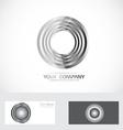 Silver rings circle abstract logo vector image