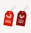 Chinese new year design elements Chinese tags for vector image