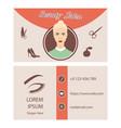 beauty salon card design vector image