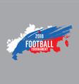 2018 football championship symbol vector image