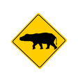Hippo warning sign vector image vector image