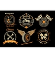 Set of racing badge vector image