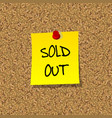 Sold out vector image vector image