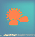 weather icon sun behind the cloud vector image