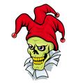 joker skull vector image
