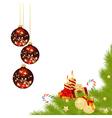 christmas frame 2 vector image vector image