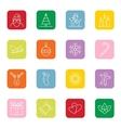 Christmas and new year icon set vector image