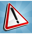 Danger Warning Traffic Sign vector image