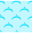 Dolphin seamless 2d pattern vector image