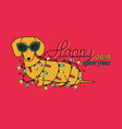happy new year 2018 horizontal greeting card vector image