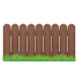 realistic template blank brown fence and green vector image